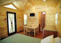 inside view of a deluxe studio cabin picture of wisconsin dells Wisconsin Dells Camping Cabins