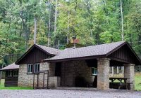 lodging locations map Clear Creek State Park Cabins