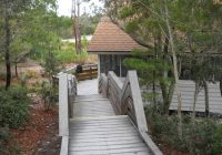 looking at the cabin from the walkway to the beach picture of st St Joseph Peninsula State Park Cabins