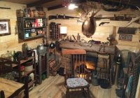 manly makeover from unfinished basement to rustic log cabin man Hunting Cabins Interior Rustic