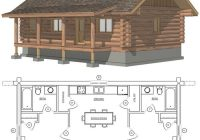 maybe widen second for bunks or add a loft space with small beds or 2 Bedroom Cabin Plans With Loft