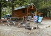 mountain girls adventures the first camping trip of the year Farragut State Park Cabins