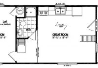 recreational cabins recreational cabin floor plans 24 X 30 Cabin Plans With Loft