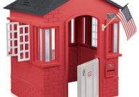 red cottage playhouse inside outside playhouse little tikes Little Tikes Cabin Playhouse