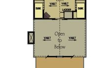 small cabin plan with loft small cabin house plans Cabin Floor Plans With A Loft