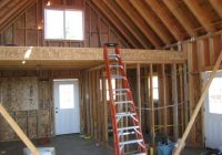 small cabins with lofts loft framing loft after insulation and Building A Small Cabin With Loft