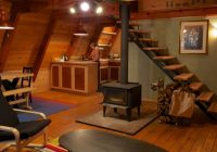 tiny a frame cabin in the woods Small A Frame Cabin Plans With Loft